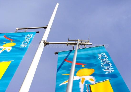 """potences pour mâts """"quick-windy"""" : système d'accrochage"""