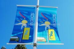"""Potences de mât et candélabre """"Street double"""" : double bannière promotionnelle"""