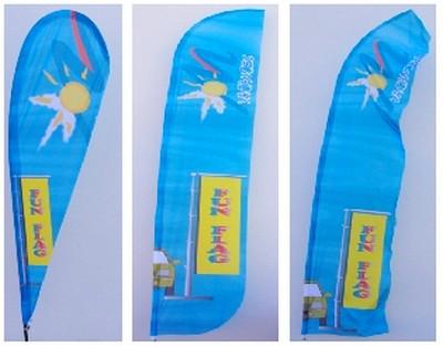 marketing - différents voiles pour le drapeau plume
