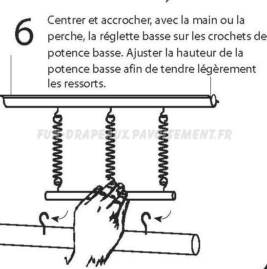 potence de candélabre - notice de montage partie basse